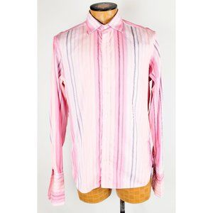 Ted Baker Pink Striped Button Down Shirt